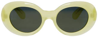Acne Studios Yellow Mustang Round Sunglasses