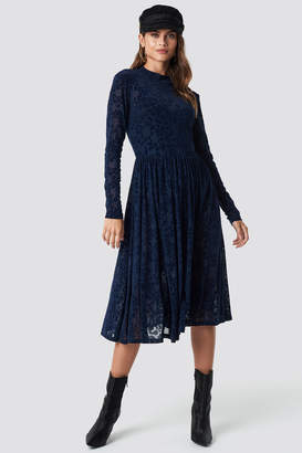 Rut & Circle Rut&Circle Burnout Velvet Dress DK Navy