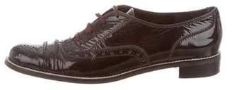 Stuart Weitzman Patent Leather Brogue Oxfords