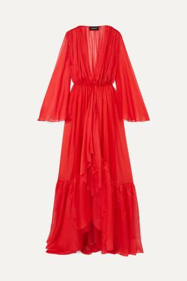 Rasario Ruffled Silk-chiffon Jacket - Red