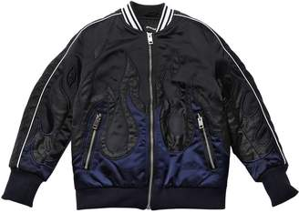 Diesel Flames Light Padded Satin Bomber Jacket