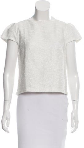 Alice + Olivia Alice + Olivia Short Sleeve Metallic Top
