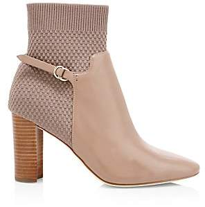 Cole Haan Women's Camille Knit Leather Ankle Boots