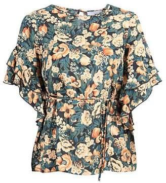 2ab27cd9afa9b Lovedrobe GB Floral Ruffle Sleeve Top