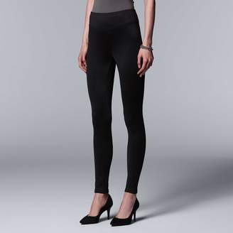 Vera Wang Simply Vera High Waist Fleece-Lined Leggings