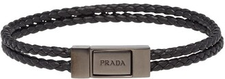 Prada braided bracelet