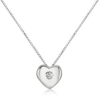 Forzieri 0.15 ct Diamond Heart 18K Gold Necklace