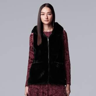 Vera Wang Women's Simply Vera Faux-Fur Vest