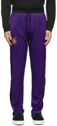 Marcelo Burlon County of Milan Purple and Black NBA Edition LA Lakers Track Pants