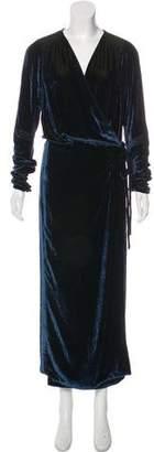 ATTICO Velvet Wrap Dress w/ Tags