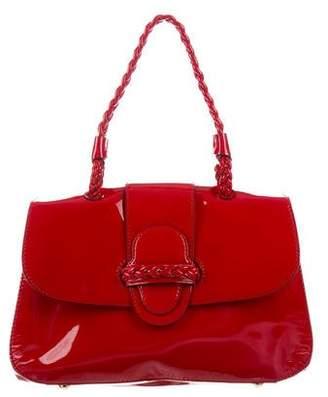 Valentino Histoire Patent Leather Satchel