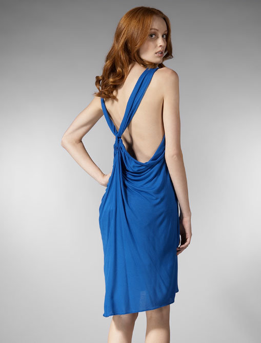 Morphine Generation Micromodal Racerback Braided Dress in Electric Blue