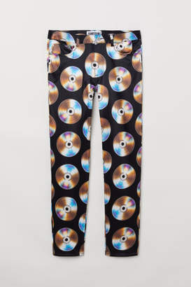 H&M Patterned Pants - Black