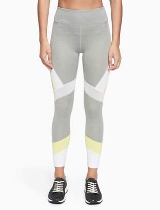 Calvin Klein colorblock high waist mesh leggings