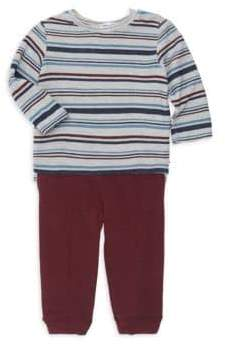 Splendid (スプレンディッド) - Splendid Splendid Baby Boy's Striped Sweatshirt& Sweatpants Set - Light Heather - Size 3-6 Months
