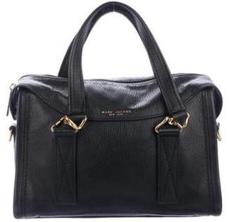 Marc Jacobs Pebbled Leather Medium Satchel Black Pebbled Leather Medium Satchel
