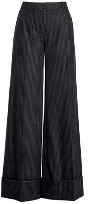 Nina Ricci Wide Leg Wool Pants