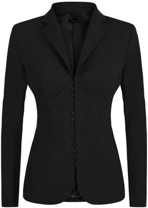 La Perla Essentials Bi-Stretch Cool-Wool Corset Jacket