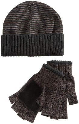 Ryan Seacrest Distinction Ryan Seacrest DistinctionTM Men's Striped Beanie & Gloves Set