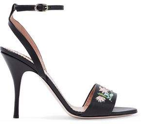 RED Valentino Bead-Embellished Leather Sandals