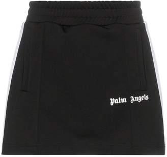 Palm Angels racing stripe logo mini track skirt