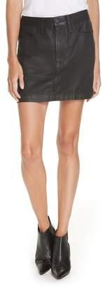 Frame Le Mini Coated Denim Miniskirt