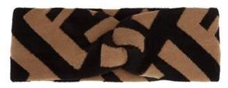 Fendi Logo Intarsia Knit Headband - Womens - Camel
