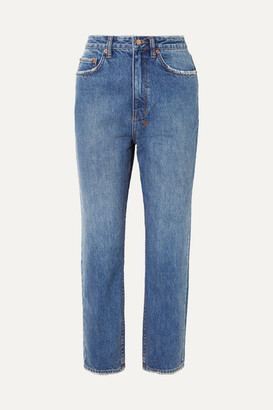 Ksubi Chlo Wasted Cropped High-rise Straight-leg Jeans - Mid denim