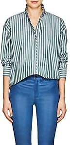 Rag & Bone Women's Audrey Striped Cotton Blouse - Green