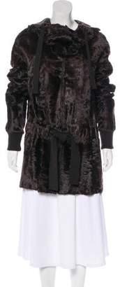 Akris Broadtail Hooded Coat