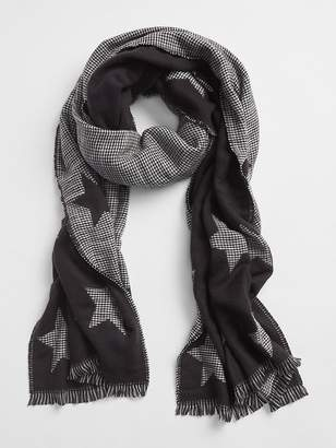 Gap Cozy Pattern Fringe Scarf