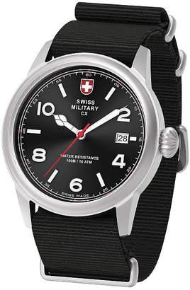 Swiss Military BY CHARMEX By Charmex Vintage Mens Black Strap Watch-78335_8_B