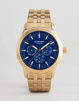 Sekonda Chronograph Bracelet Watch In Gold Exclusive To ASOS
