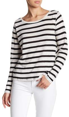 BB Dakota Tinley Striped Long Sleeve Linen Top