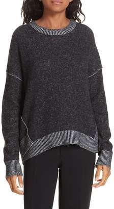 Brochu Walker Brighter Overlay Cashmere Pullover