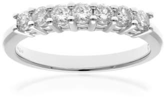 N. Naava Women's 18 ct White Gold Eternity Ring, IJ/I Certified Diamonds, Round Brilliant, 0.50ct, White Gold,