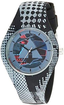 Airwalk クォーツゴムとシリコンCasual Watch , Color :グレー(モデル: aww-5091-bk )