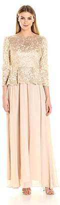 Decode 1.8 Women's Long Sleeve Lace Dress with Peplum