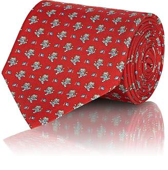 Salvatore Ferragamo Men's Lion- & Football-Print Silk Necktie