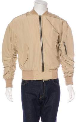 Fear Of God Canvas Ruched Bomber Jacket