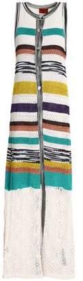 Missoni Striped Crochet-Knit Vest
