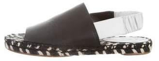 Proenza Schouler Leather Slingback Espadrilles