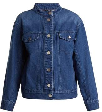 A.P.C. Bailey Collarless Oversized Denim Jacket - Womens - Denim