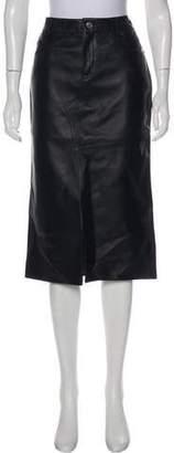 Tom Ford Leather Knee-Length Skirt
