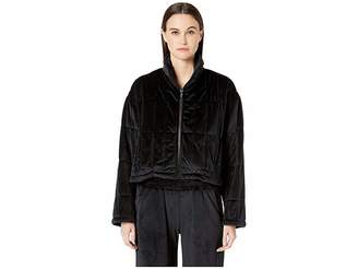 Cushnie et Ochs Quilted Zip-Up Jacket with Cinched Back Detail
