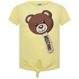 Moschino MoschinoGirls Yellow Lollipop Teddy Tie Up Top