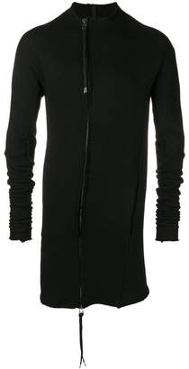 Army Of Me deconstructed zip-up sweater