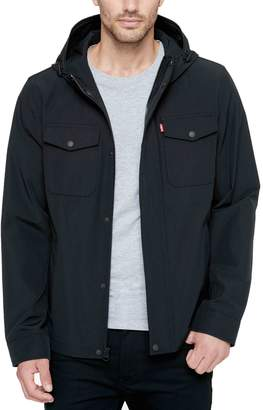 Levi's Levis Big & Tall Arctic Cloth Hooded Rain Jacket