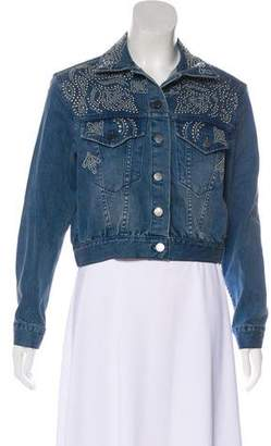 Alice + Olivia Embellished Denim Jacket