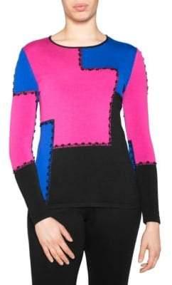 Stizzoli, Plus Size Colorblock Sweater